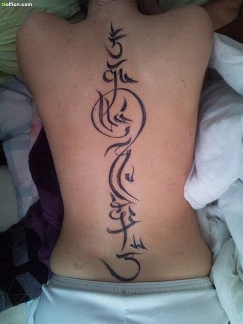 45 most beautiful arabic spine tattoo images