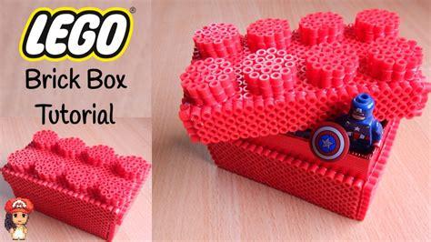 lego box tutorial perler bead lego brick box tutorial youtube