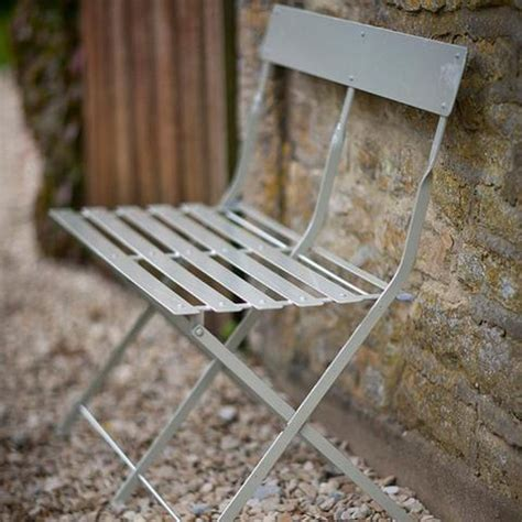 metal folding bench folding bistro bench in clay chic garden seating the