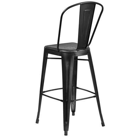 bar stools high back worn black high back tolix bar stool wide seat
