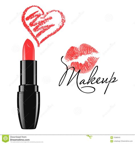how to make a doodle sign up makeup lipstick and doodle isolated vector