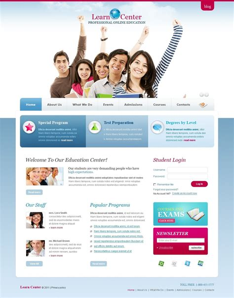 education psd template 56421