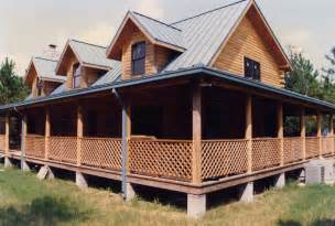 log homes with wrap around porches photos