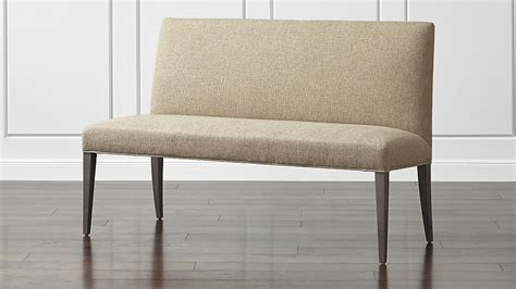 miles bench miles 58 quot medium upholstered dining banquette bench crate and barrel