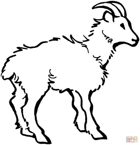 billy goat coloring page az coloring pages