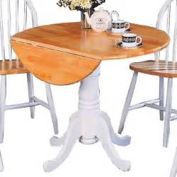 White Drop Leaf Dining Table Coaster Damen Pedestal Drop Leaf White Dining Table Ebay
