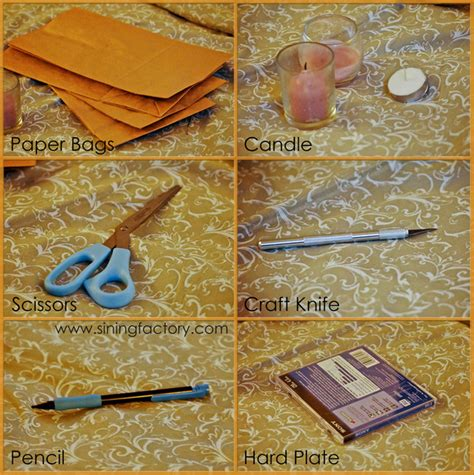 Paper Bag Procedure - how to make tealight candle holders from paper bags
