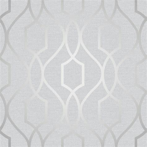 Brown And Blue Home Decor fine decor trellis stone and silver wallpaper fd41998