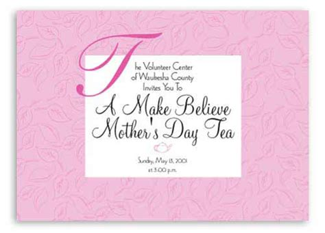 Mothers Day Invitation Card
