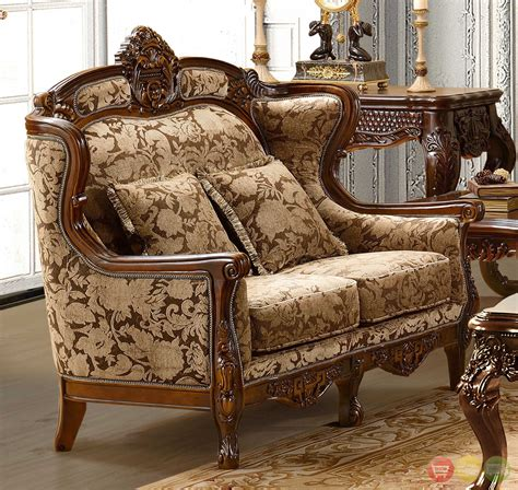 traditional formal living room furniture luxurious chenille sofa and loveseat set hd 839