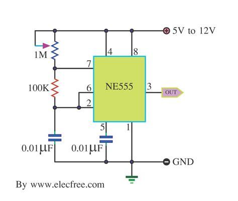clock generator circuit diagram gt circuits gt simple pulse generator by ic 555 timer l40898