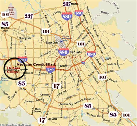 de anza map de anza college dasb flea market flea market driving directions