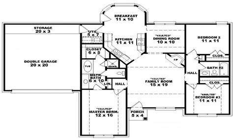 Single Floor Home Plans by Single Story Open Floor Plans 2000 Single Story Open