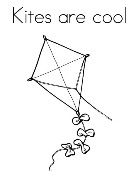 printable coloring pages kites kite free colouring pages