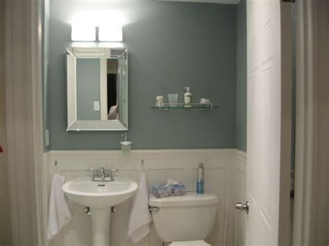 Small Bathroom Paint Color Ideas Palladian Blue Benjamin Bathroom Color To Go With The Black And White Tiles That Are