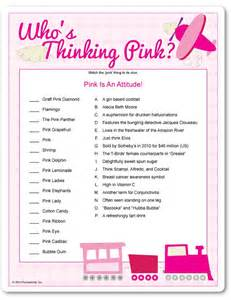 who s thinking pink baby shower ideas pinterest pink