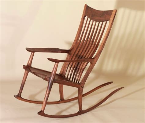 Hand Crafted Sam Maloof Style Rocking Chairs by J. Blok