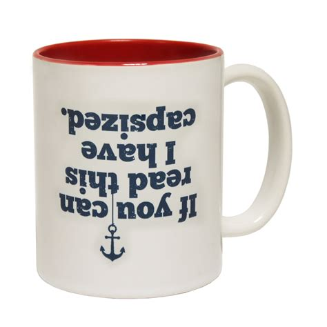 novelty coffee mugs funny sailing gift mugs capsized coffee mug novelty