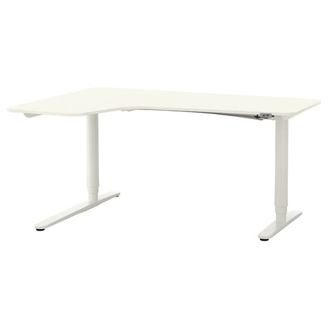 ikea sit and stand desk bekant corner desk left sit stand white 160x110 cm ikea