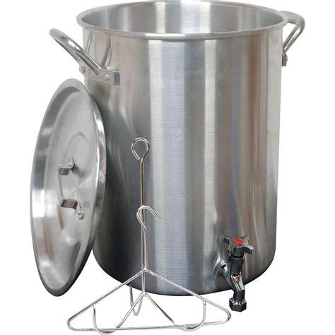 Turkey Frying Rack by King Kooker 30 Qt Aluminum Turkey Pot With Spigot Lid