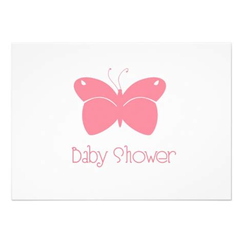butterflies baby shower pink butterfly baby shower invitation 5 quot x 7 quot invitation