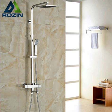 Brand New Shower by Brand New Chrome Thermostatic Water Shower Faucet Set Bath