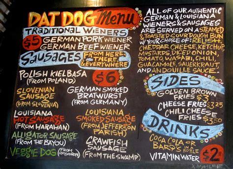dogs menu review dat po boy livin rich