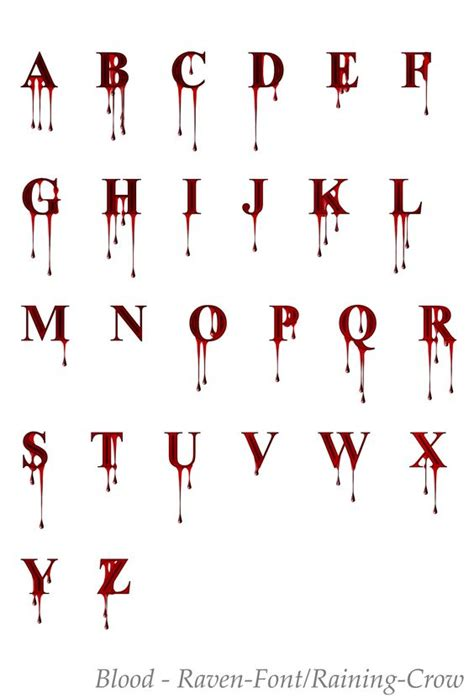 tattoo font blood deviantart more like stock font 1 blood by raven