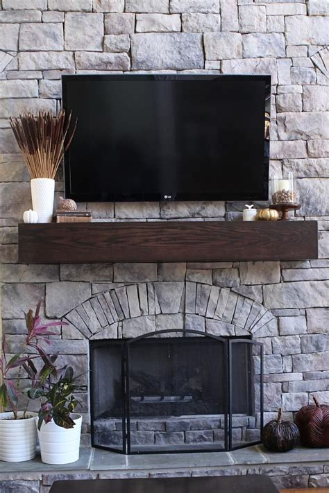 how to make a wood mantel shelf for a fireplace
