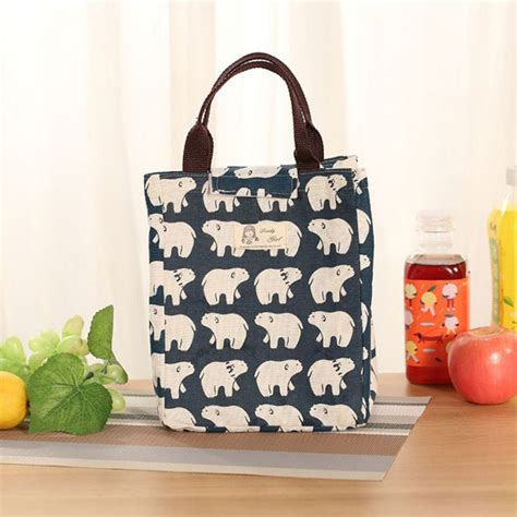 chic lunch bag containers cooler box preservation portable