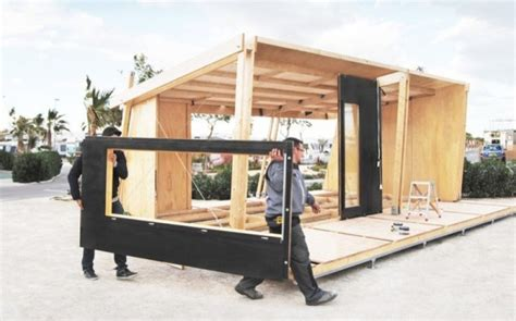 premade tiny houses vivood prefab tiny house assembles in one day