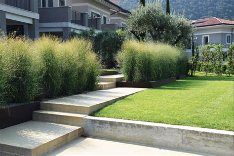 terrazzamento giardino progettazione giardini privati brescia matite verdi di