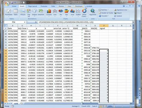 excel forex trading system