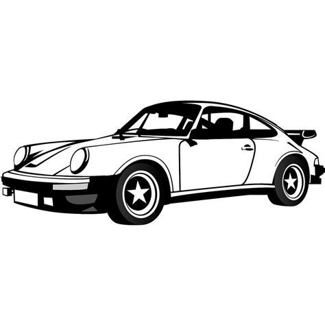 porsche logo black and white car illustration clipart best