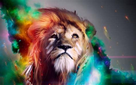 imagenes de leones fantasia leon de colores fondo de pantalla y escritorio hd gratis