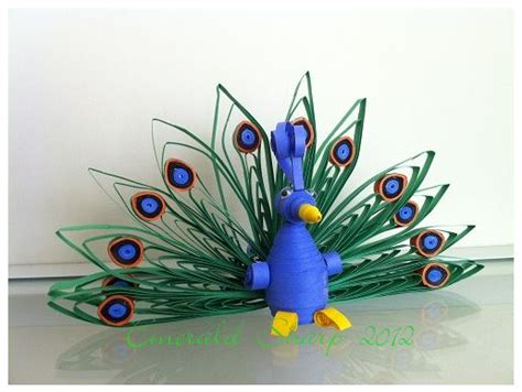 How To Make A 3d Peacock Out Of Paper - 271 best images about quilling cuteness on
