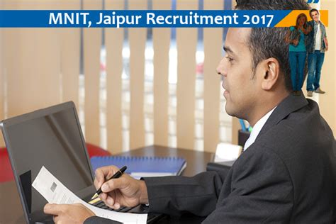 Mnit Mba 2017 by Mnit Jaipur Opening For Project Officer Naukri Nama