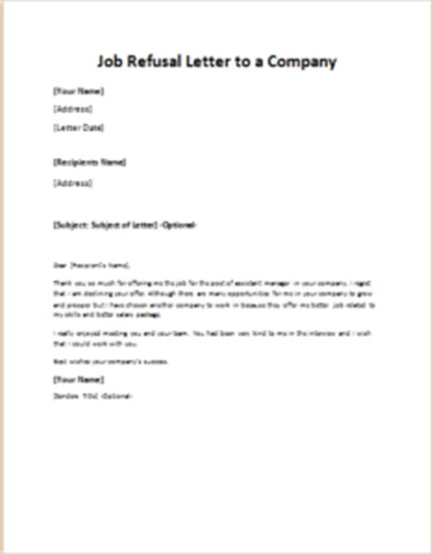 Raise Rejection Letter refusal letter to a company writeletter2
