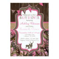 camo baby shower invitations templates pink camo baby shower invitations announcements zazzle