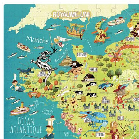 Asmodee Carte De Des Merveilles by Puzzle Carte Des Merveilles De 300 Pi 232 Ces Vilac 14 50