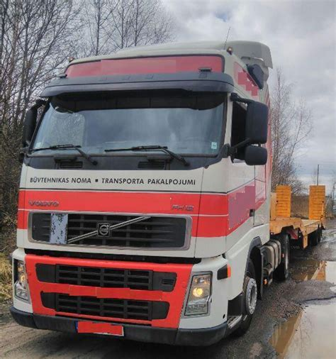 volvo van truck volvo fh 12 with trailer van hool vho 1175 for sale
