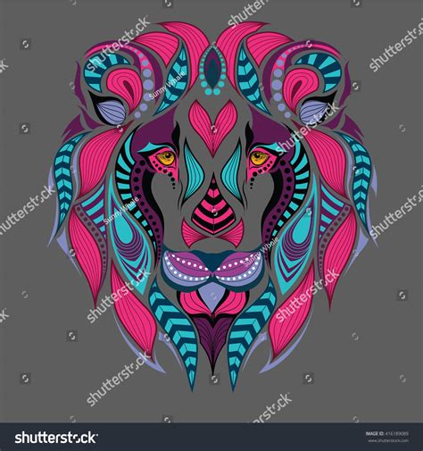 patterned colored of the indian patterned colored indian stock vector