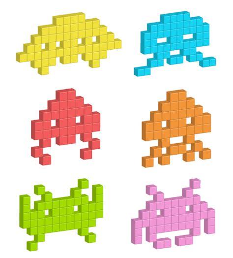 adobe illustrator pixel pattern einen einfachen 3d pixel space invader in adobe