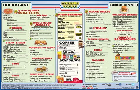 printable waffle house menu my pretty baby cried she was a bird president s day at