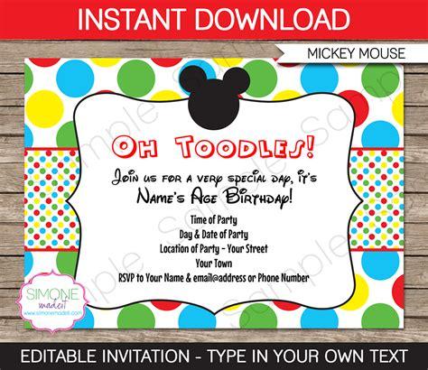 mickey mouse clubhouse birthday invitations ideas bagvania free