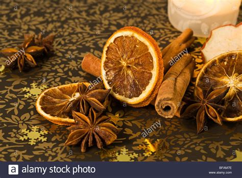 scented christmas decoration star anise dried orange