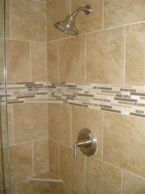 bathroom tile ideas for showers 90 s master bath shower remodel traditional bathroom
