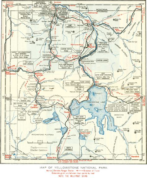 yellowstone national park lodging map yellowstone national park wisetrips travel