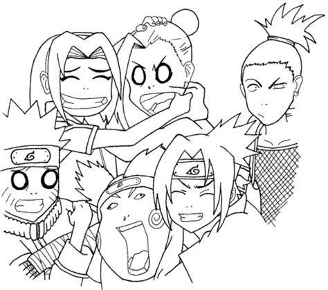 Shippuden Coloring Pages To Print by Squad 7 And 10 Coloring Page Free Printable