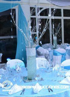 decoracion de salones para 15 años con globos 1000 images about 15 a 241 os plateado con azul cielo on